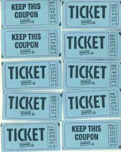 All the winning raffle tickets from Summer Sex and Spirits